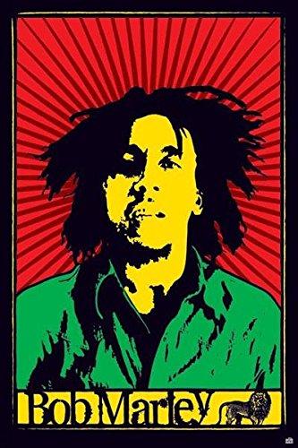 Bob Marley Poster Flag (Bob Marley ( Rastafari) Poster 11x17)