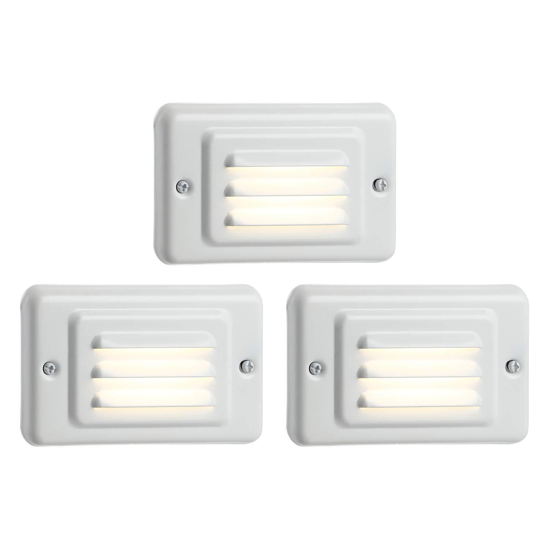 TORCHSTAR Outdoor/Indoor LED Step Light, IP65 Waterproof Mini Wall Mount Stair Light, ETL Certified, 5 Years Warranty, Pack of 3 by TORCHSTAR