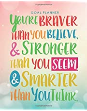 Goal Planner: Goals Journal Goal Setting Journal with Inspirational and Motivational Quotes on Cover, 120 pages, 8x10 inches