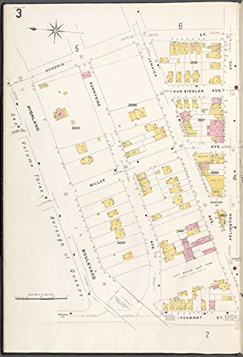 Map Poster - Brooklyn V. 8, Plate No. 3 [Map bounded by Hendrix St., Arlington Ave., Vermont St., Highland Blvd.] 18