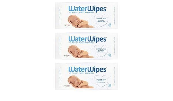 DERMAH2O DermaH20 Water Wipes - Worlds Purest Baby Wipes 60s by DermaH2O: Amazon.es: Bebé