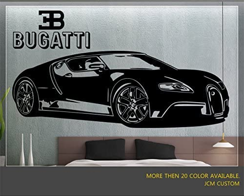 Bugatti Veyron Sports Car 3D Hole in The Wall C Effect Wall Sticker Art Decal...