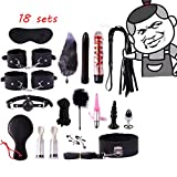 black 18 in 1 Leather New Plush Set Toy Yoga Training Straps game props