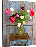 Alan Klug Gallery-Wrapped Canvas entitled Tulips, Mexico