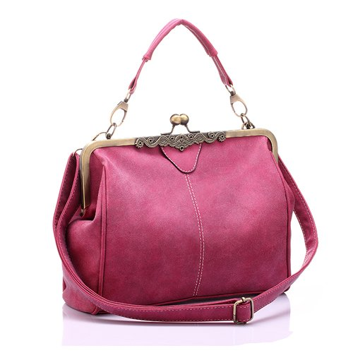 Aassddff Mujeres Messenger Bags Small Shoulder Crossbody Bag Alta Calidad Tote Bag Lady Chain Messenger Bags Clutch Bolsos,rose Red Rosa Roja