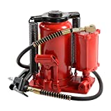 """ATE Pro. USA 90344 20 Ton Air/Hydraulic Bottle Jack, 12.6"""" Height, 12.6"""" Width, 9.44"""" Length"""