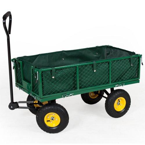 99 opinioni per TecTake Carretto carrello rimorchio in ferro rimorchio trasport legna giardino