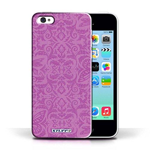 iCHOOSE Print Motif Coque de protection Case / Plastique manchon de telephone Coque pour Apple iPhone 5C / Collection Motif médaillon / Rose