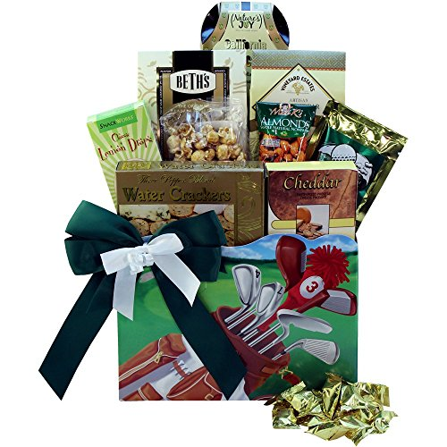Golfers Delights Gourmet Food and Snacks Golf Gift Basket (Gift Basket Themes Ideas)