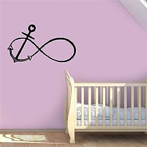 NA Home Art Decor Decal Mural Infinity Anchor Bedroom Modern Creativity Love Film Wall Paintings