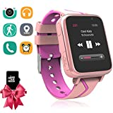 Kids Music Watch - Children Smart Watch with MP3 Music Player [1GB Micro SD Included] FM Pedometer Camera FM SOS Alarm Clock Flashlight for Boys Girls Back to School Students Gifts (Pink)