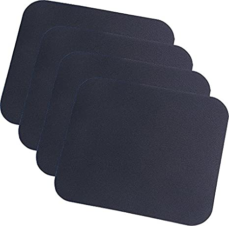 4x LogiLink ID0096 Mauspad schwarz 220 x 250 x 3 mm