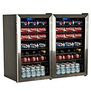 EdgeStar BWC120SSLTDUAL 206 Can and 10 Bottle Side-by-Side Ultra Low Temp Dual Unit Beverage Cooler