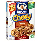 Quaker Chewy Granola Bars S'Mores, 10-Count Box (Pack of 6)