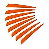 100pcs 5 inch Plastic Orange Arrow Vane TPU Fletching for DIY Arrow Archery Bow