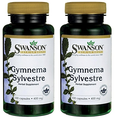 Swanson Premium Gymnema Sylvestre 400mg -- 2 Bottles each of 100 Capsules (Banaba Extract Leaf)