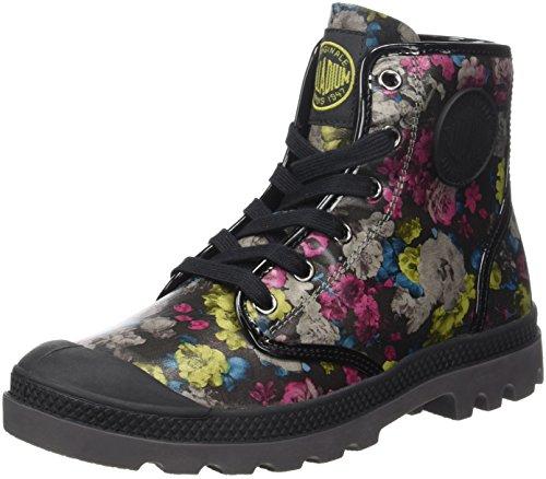 Collo c48 Black F A Hi Multicolore Pampa Palladium Flo flower Sneaker Alto Multi Donna PqgvYg6wx