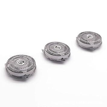 Funnyrunstore 3 Piezas Afeitadora Maquinillas de Afeitar Reemplazo de los Cabezales Ajuste para Philips HQ9070 HQ9080 HQ8240 / 8260 Accesorios de la máquina de Afeitar rotativa PT920 (Plateado): Amazon.es: Electrónica