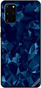 For Samsung S20 Plus Case Cover Mosaic Background Blue