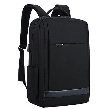 TRULIL Mochila para portátil Mochila para computadora con Puerto de Carga USB antirrobo Bolsa de Escuela Oxford Cloth Mochila de Viaje Unisex de Negocios: ...