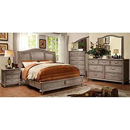 Amazon Com Furniture Of America Calpa 4 Piece King Bedroom Set In
