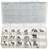Stainless Steel Woodruff Key Assortment (66 Pieces), Inch, With Case
