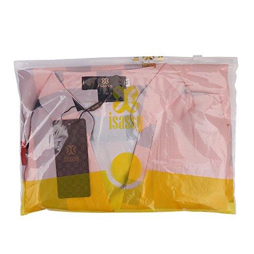 4 mousseline carreaux Blouse en Rose Bonbon avec manches 3 qaWAF7