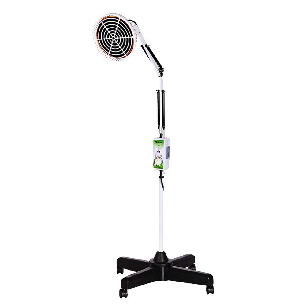 YLTTZ 220V 300W Infrared Floor Heating Lamp, for Heat Treatment to Relieve Muscle Pain TDP Improves Blood Circulation Adjustable Arm and Time Non-Red Light