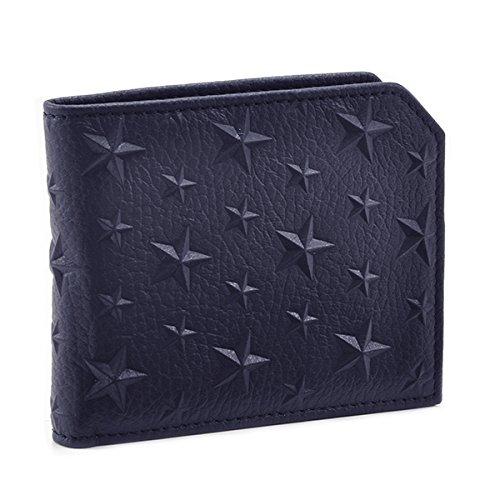 Jimmy Choo(ジミーチュウ) 財布 メンズ CALF EMBOSSED STARS ON GRAINY 2つ折り財布 ブルー ALBANY-EMG-0175 [並行輸入品] B0785PR28P