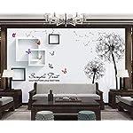 Carta Da Parati 3D Fotomurali Tarassaco Cornice Farfalla Camera da Letto Decorazione da Muro XXL Poster Design Carta per… 51pQCSzmhcL. SS150