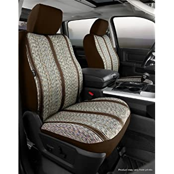 Brown Saddle Blanket, Fia TR47-37 BROWN Custom Fit Front Seat Cover Bucket Seats