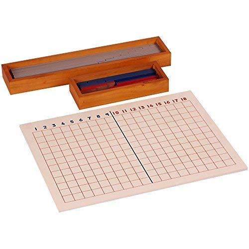 Kidken Montessori Subtraction Board Wooden Teaching Aids   Educational Teaching aids