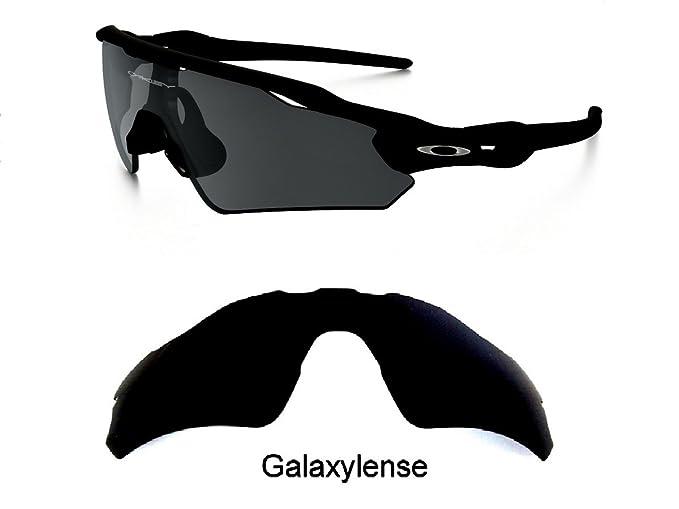 6540fbd6d76 Amazon.com  Galaxy Replacement Lenses For Oakley Radar EV Path Black  Polarized 100% UVAB  Clothing