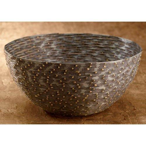 KINDWER Iron Coiled Wire Basket, 10-Inch (Wire Gift Basket)