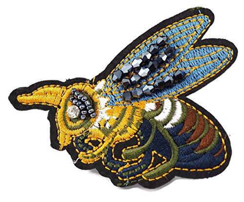 Bee Brooch for backpacks, clothing, girls, pack, jeans, set, kids, men, boy
