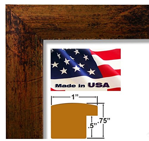US Art 18x24 Custom Faux Finish Bronze Picture Poster Photo Frame Wood Composite Elegant One 1 inch WIDE Moulding by US Art