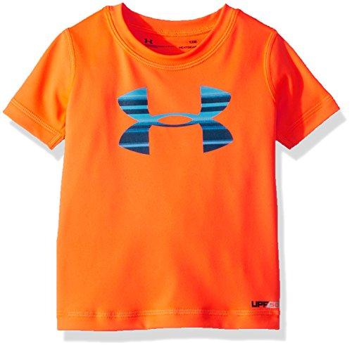 - Under Armour Baby Boys Big Logo Short Sleeve Tee Shirt, Magma Orange, 24M