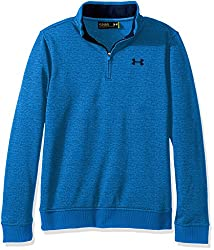Under Armour Boys' Storm Sweaterfleece 14 Zip,mako Blueacademy, Youth Large