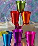 Set of 6 Retro Aluminum Shot Glasses