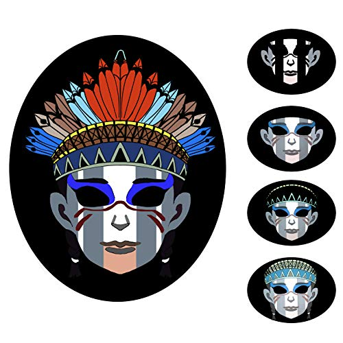7 Modes Led Mask Sound Activated Light Up Face Masks with 9 Flashing Effects for Costume Rave Music Dance Parties(2)