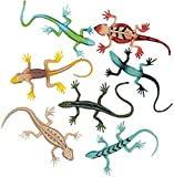 Pack of 12 - Small Rubber Lizards - Great for Surprise Children's Party Loot Bag