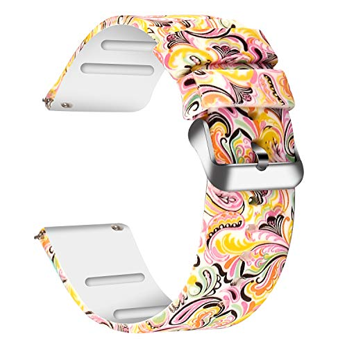 JIELIELE Compatible 22mm Wristbands, Silicone Watch Band Straps Accessory for Samsung Gear S3 Frontier/Classic/Gear 2 / Galaxy Watch 46mm / Fossil Q Wander/Huawei Watch GT (Painting, 22mm)