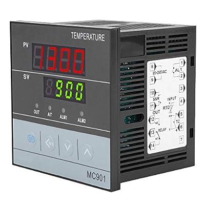 PID Temperature Controller,MC901 Digital PID Temperature Controller K Type PT100 Sensor Input Relay SSR Output