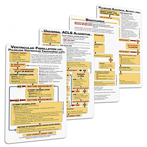 Pricing Algorithm: ACLS Reference Cards - Buy Online In UAE.