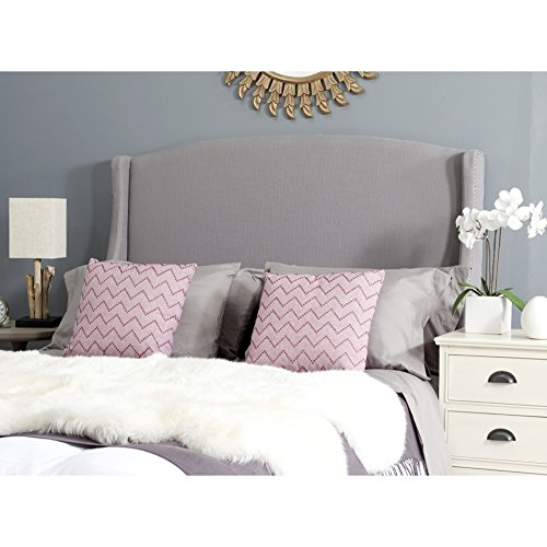 Safavieh Headboard Collection Austin Headboard, Full, Light Grey - Austin Headboard