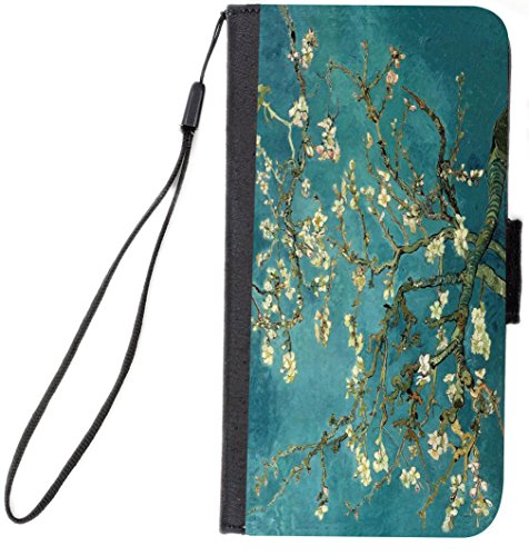 Rikki Knight Magnetic Clasp Closure Folio Case for Apple iPhone 7/iPhone 8 - Van Gogh Almond Blossoms from Rikki Knight