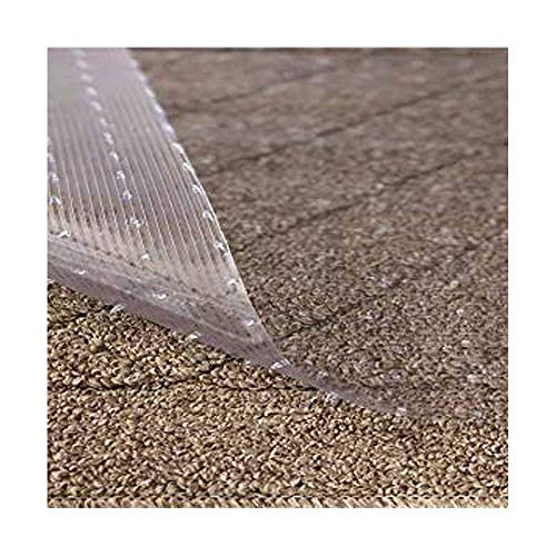 Resilia - Clear Vinyl Plastic Floor Runner/Protector for Deep Pile Carpet - Non-Skid Decorative Pattern, (36 Inches Wide x 25 Feet Long) ()