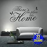 There's No Place Like Home v2 - Wall Decal Sticker Quote lounge living room bedroom (Medium)