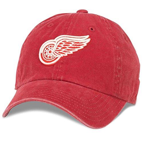 American Needle New Raglan NHL Team Adjustable Hat, Detroit Red Wings, Dark Red (36672A-DRW)