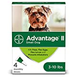Flea and Lice Treatment for Dogs, 3-10 lb, 4 doses, Advantage II